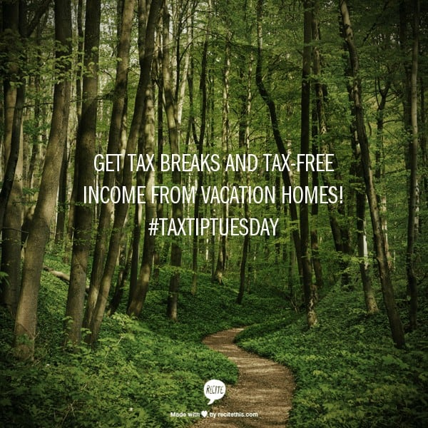 tax-free income from vacation homes