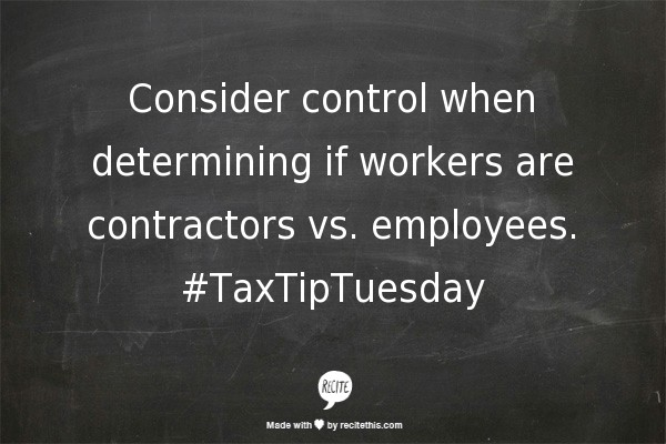 contractors vs. employees