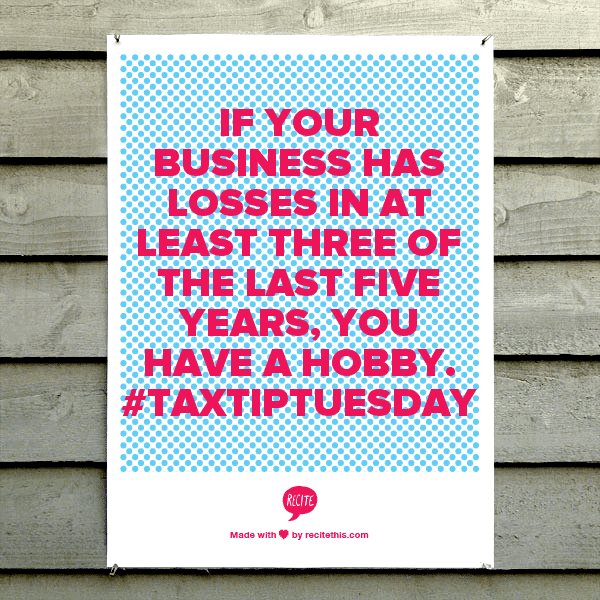 business hobby loss