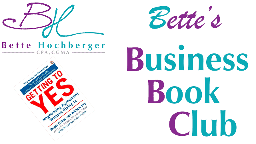 Bette's Business Book Club: Getting to Yes