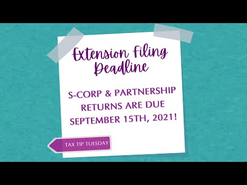 Tax Tip Tuesday - Extension Deadline